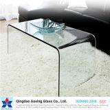 Vidro temperado curvado / curvado para móveis / mesa / vidro de construção