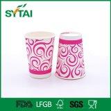 La vendita calda a gettare ricicla la tazza di caffè di carta isolata materiale