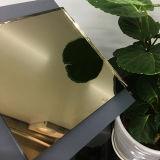 Het Blad van de Spiegel van Frameless van het Blad van het Glas van de Spiegel van het Brons van Champagne van de Spiegel van de kleur