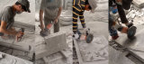 Smerigliatrice di angolo degli attrezzi a motore di Kynko per granito/marmo/arenaria/Concret (6621)