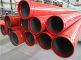 Red Painted UL FM Sch40 Groove End Fire Fighting Steel Pipe