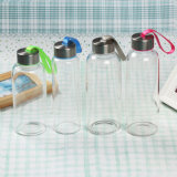 Frasco de vidro original, garrafa de água lisa