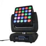 25*12W RGBW 크리 사람 LED DJ 디스코 단계를 위한 이동하는 맨 위 매트릭스 빛