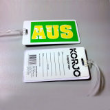 Qualität Plastic Promotional Gift 3D Rubber Luggage Tags (LT-A001)