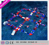 Parque de flutuação inflável de divertimento colorido do Aqua do GV melhor para o comércio