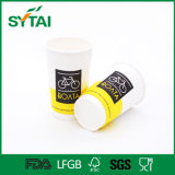 tazas de papel aisladas pared doble del café caliente 10oz/12oz