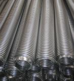 Manguito acanalado del metal flexible del acero inoxidable con las guarniciones