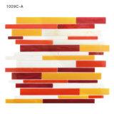 Baumaterialien Backsplash Fertigkeit-italienische rote Glasmosaik-Fliese