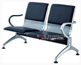 Silla que espera del aeropuerto público, silla que espera del hospital del metal