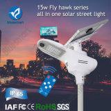 lámpara de calle solar al aire libre de 15W LED con poder más elevado