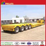 rimorchio di 80ton 4axles Lowbed semi per il trasporto dell'escavatore