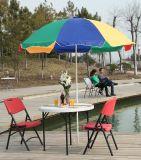 table ronde de 94cm White Plastic Folding pour Leisure, Coffee, Beer
