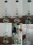 Pipe de fumage en verre lourde de vente chaude avec la matrice Perc ou la base lourde du recycleur 25mm