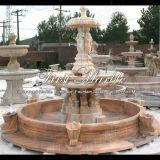 Fontana di marmo rossa della scultura di tramonto per la decorazione domestica Mf-154