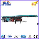 De tri Oplegger van de Lading van de As 40FT Flatbed voor Container/Hout