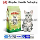 Sacchetto diritto della chiusura lampo della lamina di alluminio per l'imballaggio di plastica dell'alimento per animali domestici