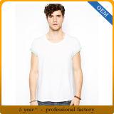 Maglietta rotonda bianca 100% del collo della pianura di estate del cotone degli uomini