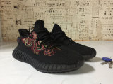 Sply-350 negro blanco negro melocotón Running Shoes Kanye West Yezzy Boost 350 (GBSH015)