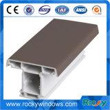 Perfil cinzento do plástico UPVC da extrusão feita sob encomenda para Windows e portas