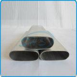 유리제 문 손잡이를 위한 스테인리스 편평한 편들어진 타원형 관