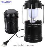 Luzes de acampamento da lâmpada da tocha que penduram a lanterna recarregável a pilhas do diodo emissor de luz