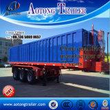 Reboque do caminhão de Tipper da extremidade do cilindro hidráulico de China Hyva, reboque traseiro do caminhão de Tipper da descarga, reboque de derrubada lateral do caminhão