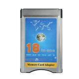18 in einem MMC-statischer Ableiter SDHC Kartenleser der Frau-PRO Xd in PCMCIA Karten-Adapter