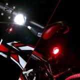 방수 Mountai 자전거 부속품 플라스틱 자전거 정면 빛 Lehtd USB 재충전용 LED 자전거 테일 빛