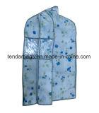 Saco de vestuário não tecido da tela com indicador desobstruído