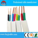 Fio de cobre exterior de cabo elétrico da bainha do PVC do cabo liso