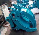 A máquina escavadora luta a garra hidráulica para a máquina escavadora de Kobelco Sk135