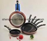 Ручка покрыла алюминиевую Non-Stick сковороду для комплектов Sx-Yt-Ja007 Cookware