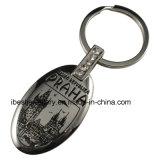 Trousseau de clés en alliage de zinc de cadeau de souvenirs avec le logo de Praha (KJ003)