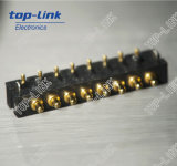 Brass Spring Loaded Pogo Pin Connector (battery connector, 8 pins)