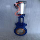 Operação elétrica Portão quadrado Válvula de porta de faca de aço carbono