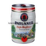 boîte en fer blanc de la bière 5liters