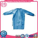 Robe d'isolement chirurgie non tissée jetable avec manchette tricotée