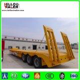 Tri essieu remorque inférieure de bâti de 60 tonnes avec le rampe hydraulique