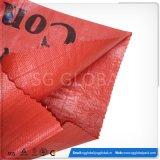50kg 100kg roter pp. gesponnener Zufuhr-Beutel mit Drucken