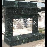 Camino verde Mfp-1008 di Verde del camino del camino di pietra del camino di marmo del granito