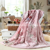 Polyester 100% Printed Thick Flannel Blanket avec Binding Edge
