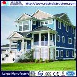 Casa de aço pré-fabricada do recipiente das cabines para a acomodação viva confidencial com painel de parede