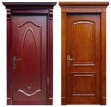 Entrée et porte en bois 100% solide classique, porte de bois de construction, porte intérieure/porte extérieure