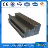 Perfil de alumínio anodizado preto rochoso para Windows deslizante e a porta