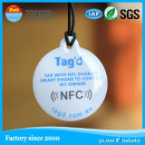 13.56 MHz grabable anti metal NFC Tag, el metal CMYK Imprimir Círculo etiqueta NFC