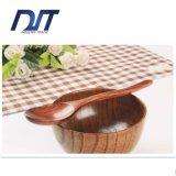 Cuillère à soupe de bois à laque vieilli sur mesure avec poignée