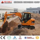 Máquina escavadora da esteira rolante mini máquina escavadora de 8 toneladas com o motor de Japão para a venda
