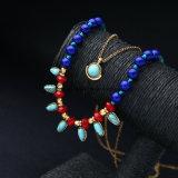 Ожерелье богемской цветастой цепи шариков разнослоистое привесное для женщин