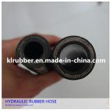 De draad Gevlechte Slang van de Hoge druk van de Olie Bestand Flexibele Hydraulische Rubber