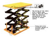 Quatre ont fixé la plate-forme électrique de levage